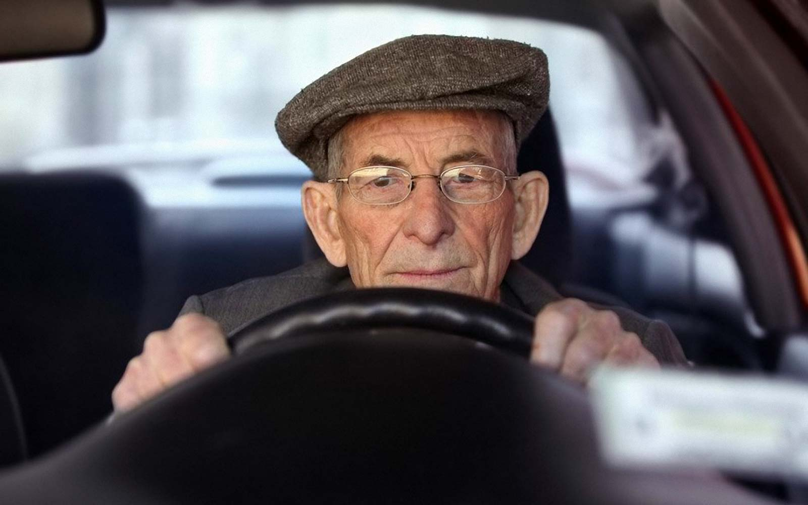 Grandpa in car